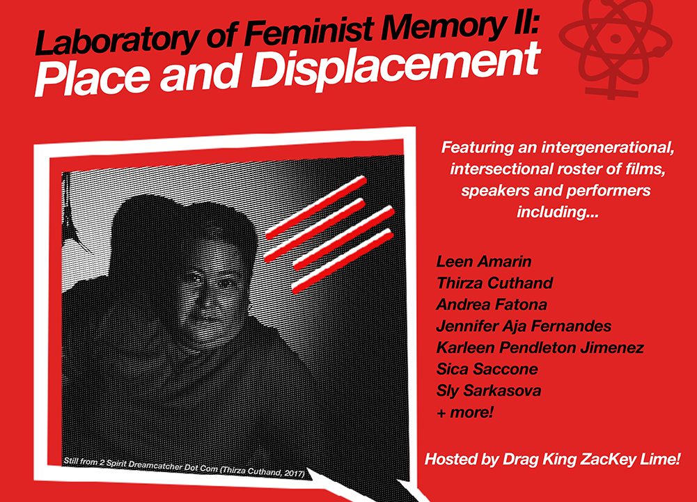 "poster for ""Laboratory of Feminist Memory II - Place and Displacement"""
