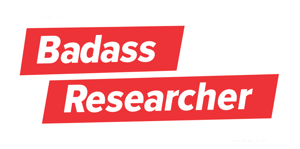 graphic logo for Badass Researcher