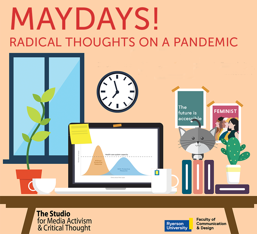 poster graphic for Maydays! Radical Thoughts on a Pandemic
