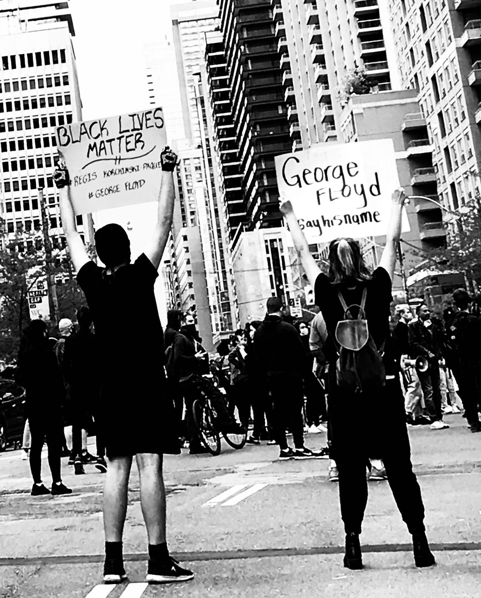 photo of Black Lives Matter - Justice for George Flyod demonstration